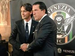 Pippo Inzaghi e Joe Tacopina, il presente vincente del venezia