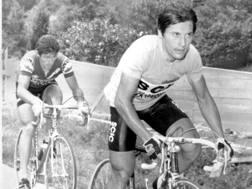 Giro 1979: Beppe Saronni in rosa davanti a Francesco Moser