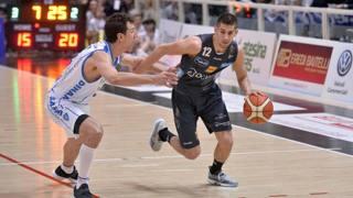 Diego Flaccadori in azione: si è candidato al draft Nba. Ciam/Cast
