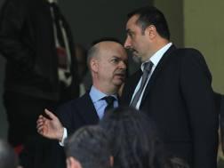 Marco Fassone e Massimo Mirabelli, a.d. e d.s. del Milan. Getty