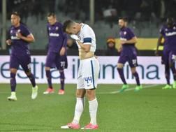 Riccardo Montolivo consola Gerard Deulofeu. Ap