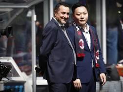 Massimiliano Mirabelli, 47 anni, con Han Li. LAPRESSE