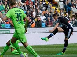 Il gol di Perica che apre la gara. Getty