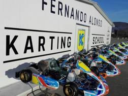 La scuola di kart sulla pista di Fernando Alonso in Spagna