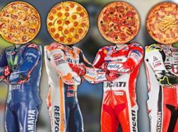 Valentino Rossi ha attribuito una pizza ai suoi avversari