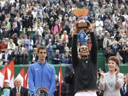 Rafa Nadal, 30 anni, 10 trionfi a Monaco.