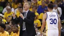 Steve Kerr, 51 anni, allena i Warriors dal 2014. Ansa