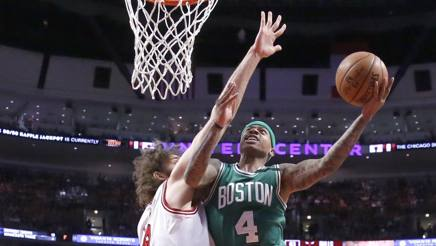 Isaiah Thomas in azione a Chicago. Ap