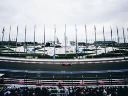 La Ferrari in azione sulla pista di Sochi