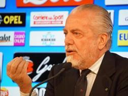 Aurelio De Laurentiis, 67 anni, presidente del Napoli. Ansa