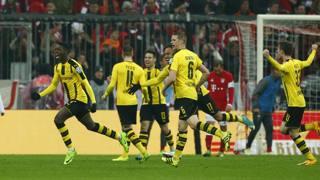 Esultanza giallonera a Monaco. Reuters