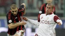 Flamini contro Sestu in un Reggina-Milan del 2009. Ap