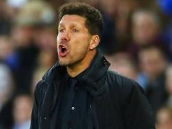 Diego Pablo Simeone, allenatore dell'Atletico Madrid.  Epa
