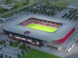 Il rendering del nuovo stadio Sant'Elia