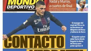 La prima pagina di oggi del Mundo Deportivo