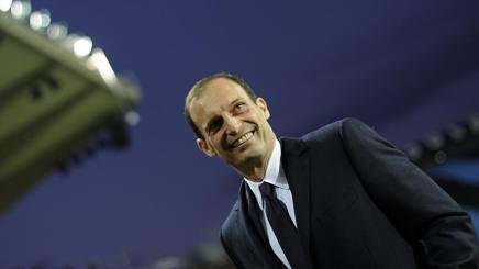 Massimiliano Allegri è soddisfatto del pari di Bergamo. Reuters