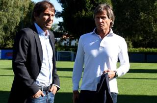 Lele Oriali con Antonio Conte. Getty