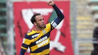 Giampaolo Pazzini, attaccante del Verona. LaPresse