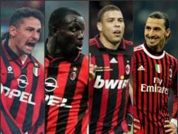 Baggio, Weah, Ronaldo e Ibrahimovic ai tempi del Milan