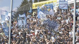Tifosi della Spal in trasferta a La Spezia. LaPresse