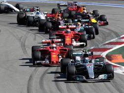 Bottas davanti a Vettel a Sochi. Getty Images