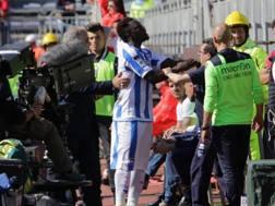 Muntari litiga col pubblico di Cagliari. Getty