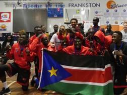 La Nazionale di basket del Sud Sudan che ha partecipato alle qualificazioni per Afrobasket 2017 FIBA