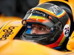 Fernando Alonso sulla Dallara-Honda del team Andretti Autosport