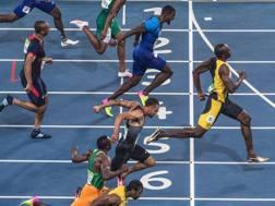 La finale olimpica dei 100: Bolt precede Gatlin e De Grasse AFP