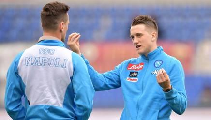 Piotr Zielinski, 22 anni, centrocampista, è in ballottaggio con Hamsik. LaPresse