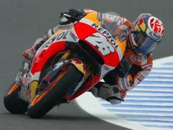 Daniel Pedrosa in azione sulla sua Honda