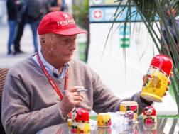 Niki Lauda al paddock di Sochi lo scorso fine settimana. Reuters