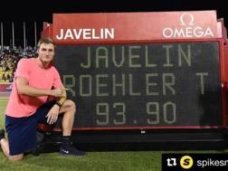 Thomas Rohler, 25 anni, a Doha diventa il secondo miglior giavellottista di sempre