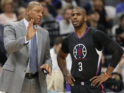 Doc Rivers, 55 anni, con Chris Paul, 32. Ap
