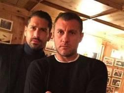 Da sinistra, Marco Borriello, 34 anni, e Christian Vieri, 43. Instagram