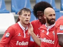 A sinistra, Federico Bernardeschi, 23 anni, attaccante della Fiorentina. Ansa