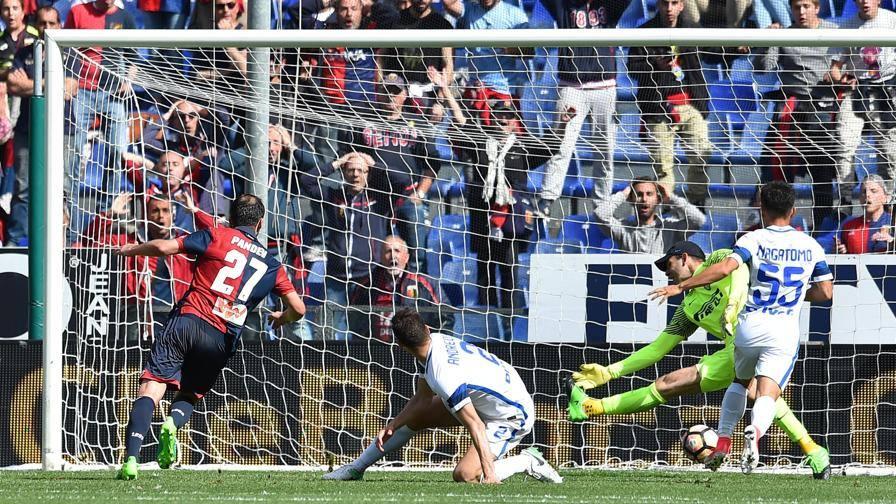 L'Inter cade pure col Genoa Pandev, è un gol salvezza