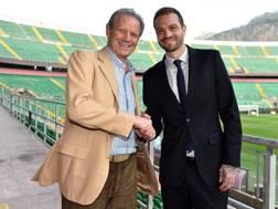Paul Baccaglini con Maurizio Zamparini. Getty