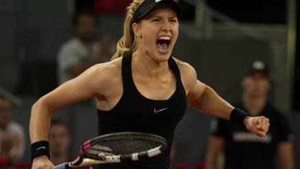 La pazza gioia di Eugenie Bouchard, grande accusatrice di Maria Sharapova. Reuters