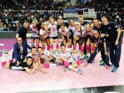 Novara festeggia per la vittoria in gara-3 della finale scudetto RUBIN/LVF