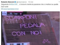 Il tweet di Roberto Mancini.