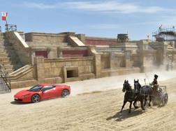 La sfida Ferrari-biga a Cinecittà World, a Castel Romano