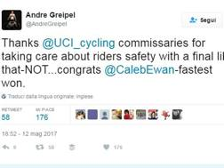 Il tweet ironico di Greipel