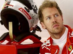 Sebastian Vettel, terzo anno alla Ferrari. Epa