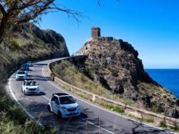 Una fase dell'Audax 300 2017 svoltosi in Sicilia