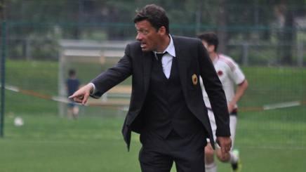 Stefano Nava, allenatore del Milan Primavera. Foto Oddi