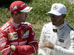Vettel ed Hamilton. Epa