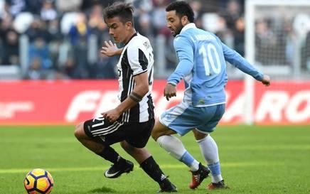 Paulo Dybala e Felipe Anderson durante Juve-Lazio quest'anno. Getty