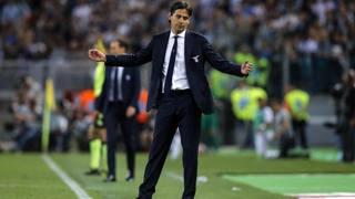 Simone Inzaghi, tecnico della Lazio. Ansa