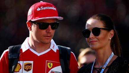 Kimi Raikkonen e la moglie Minttu Virtanen. Getty